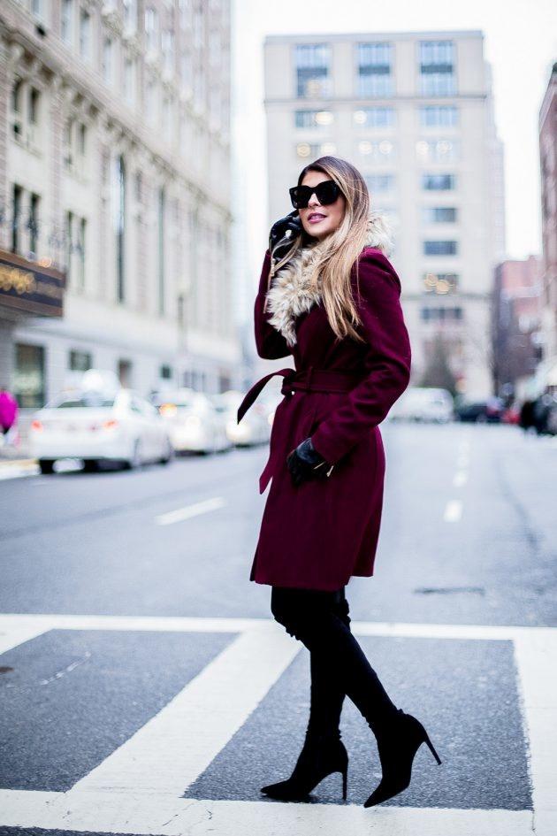 Благородный бордо в модных образах