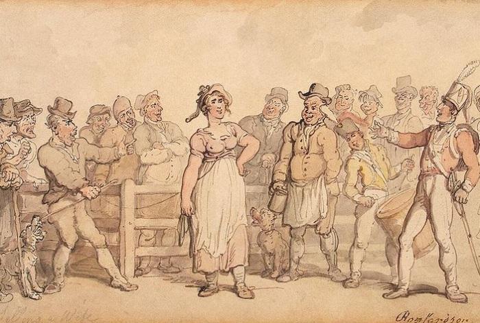 В Англии XIX века разводиться было дорого. Поэтому жен продавали на аукционе