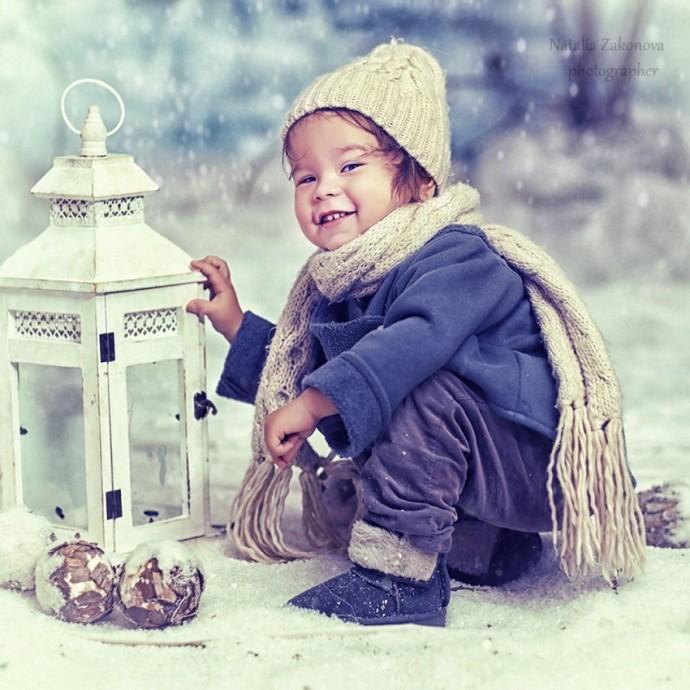 Детки и зима.