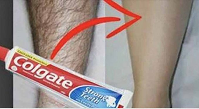 Как легко удалить нежелательные волосы с вашего тела, используя зубную пасту «Сolgate»!Это просто невероятно!