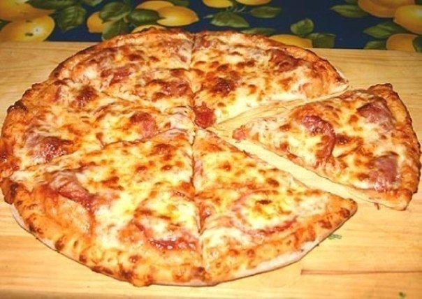 Давно мы не готовили пиццу, …