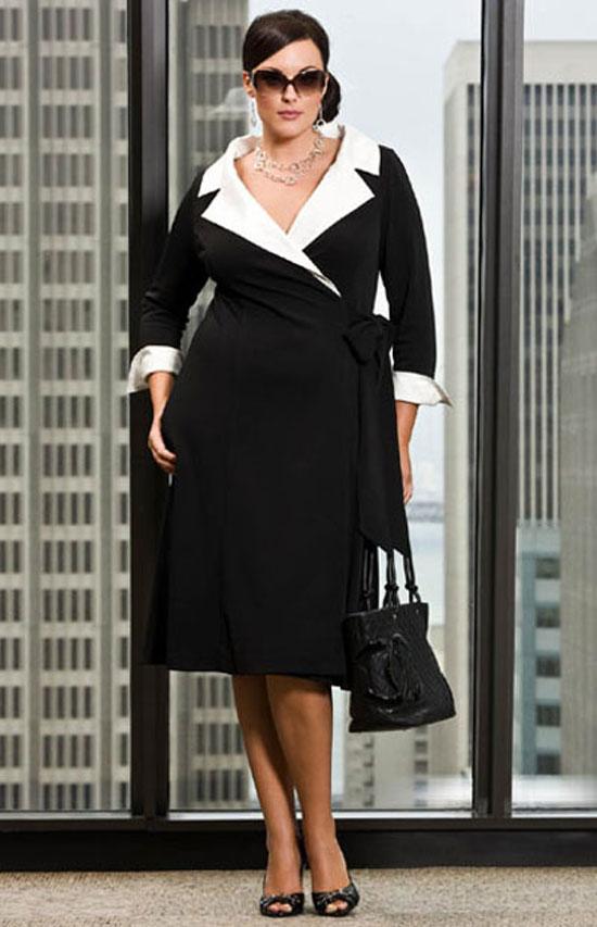 Платья для полных в деловом стиле