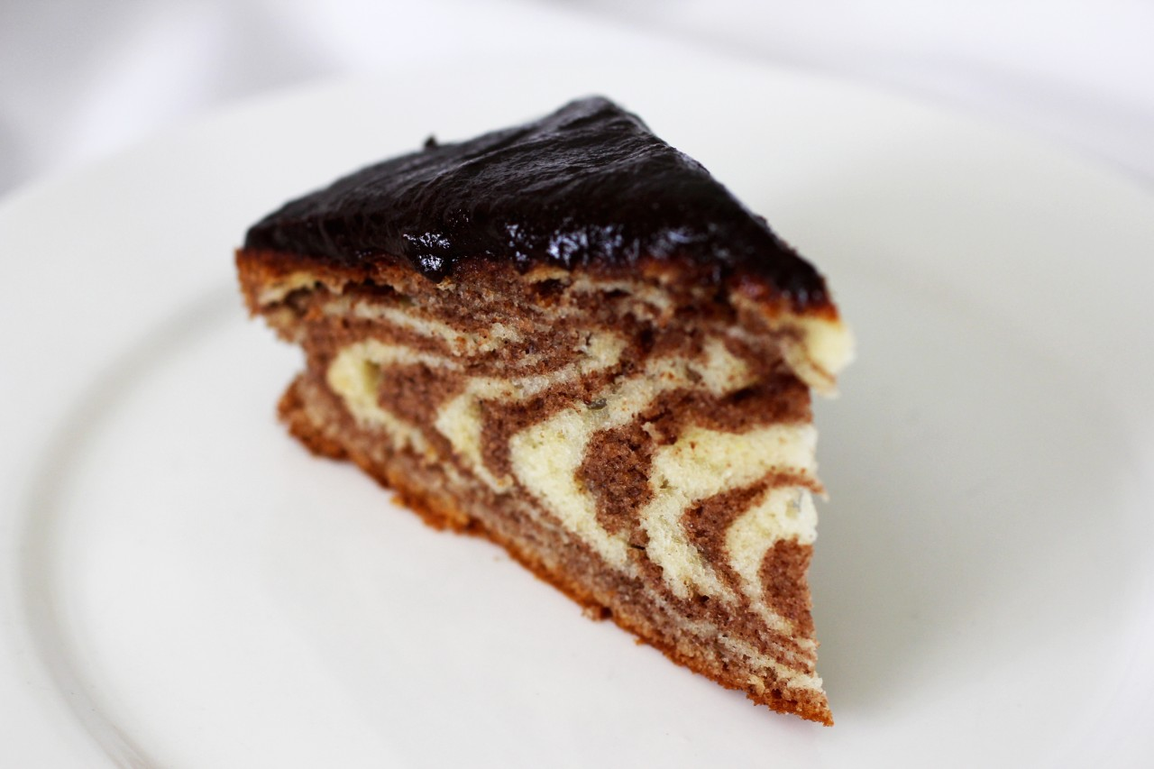 Рецепт пирога зебра в домашних условиях