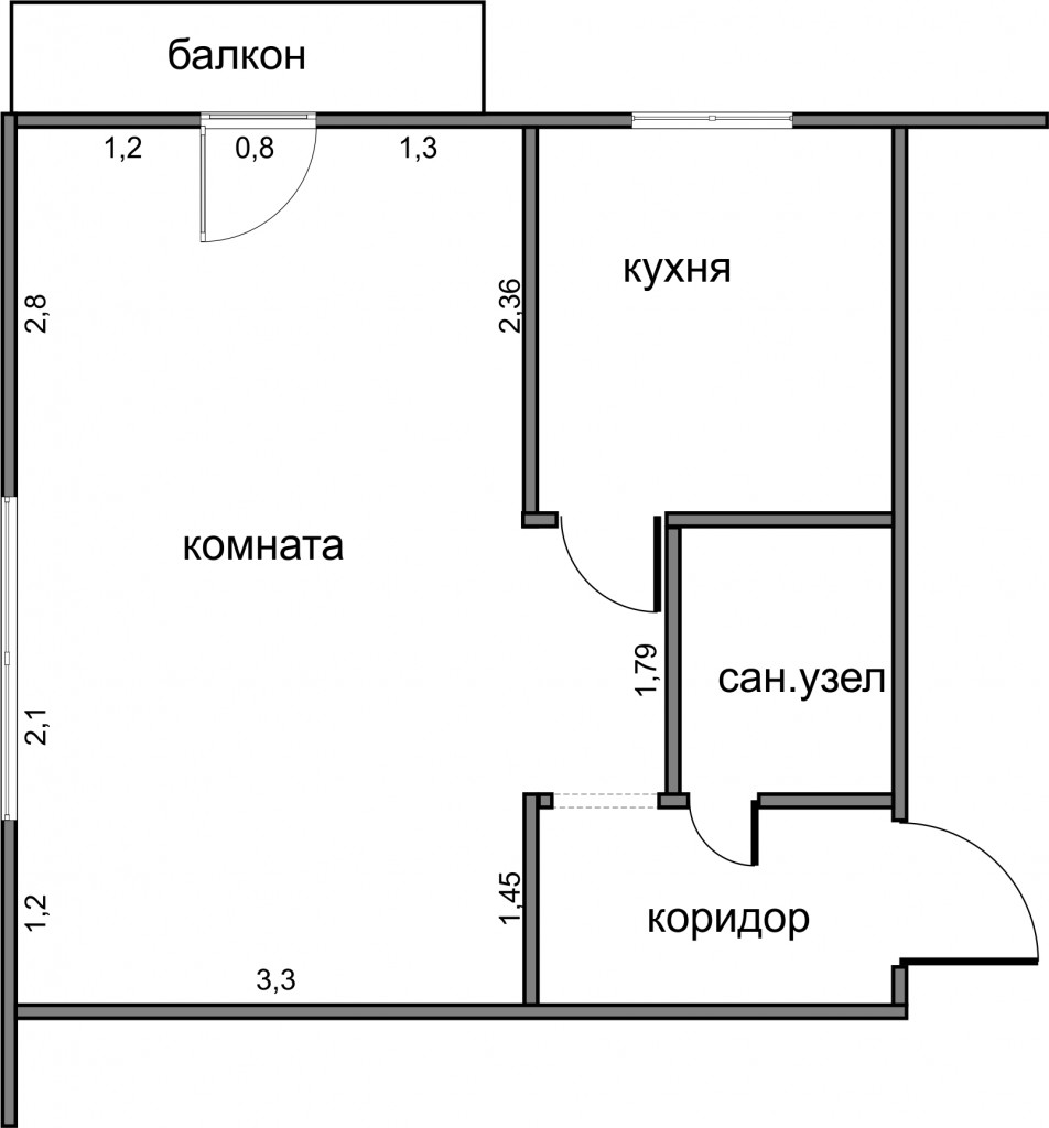Мебели план трехкомнатной хрущевки