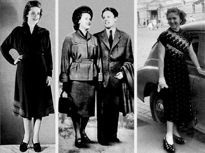 Советская мода пятидесятых. /Фото: my-cccp.ru