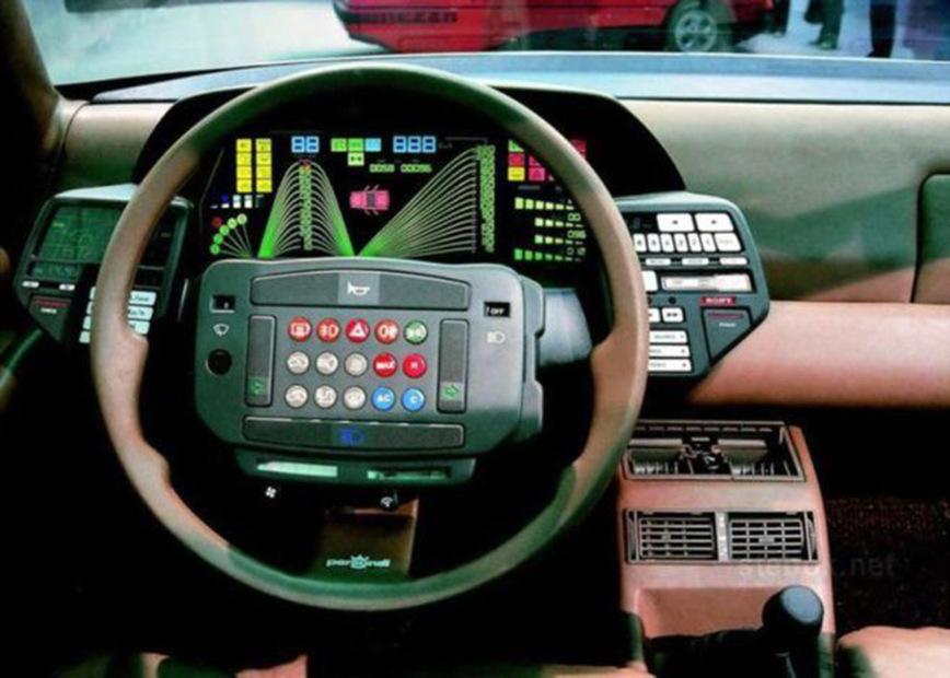 10 самых безумных панелей приборов автомобилей 80х