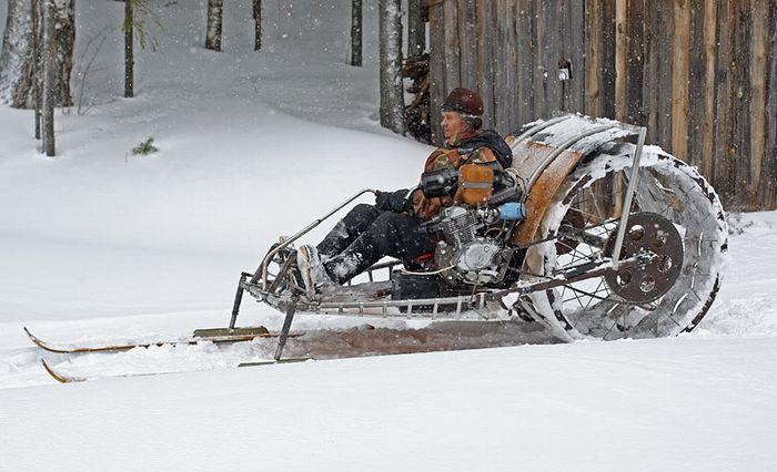 Снегоходы русских умельцев