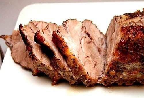 Запеченная в горчице свинина
