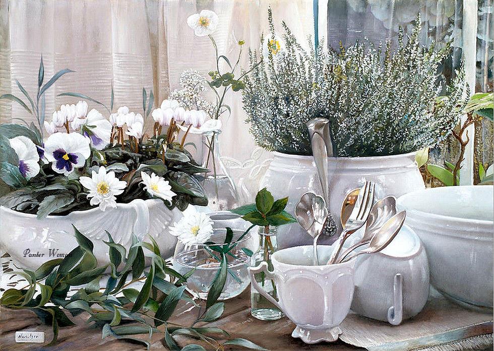 Цветы для души художницы Danka Weitzen.