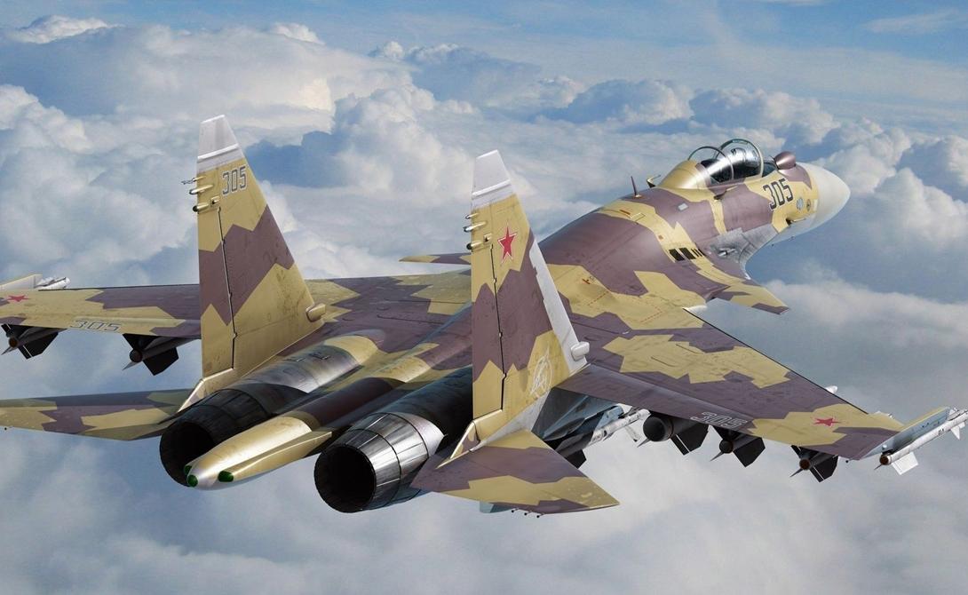 Истребитель Су-35В бою один на один у российского истребителя Су-35 пока равных нет. Скорость в 1,5 Маха и набор высоты в 13 километров, невероятная маневренность и серьезный комплект вооружения делают машину максимально опасным соперником любому существующему аналогу потенциального противника. Ну ладно, практически любому.