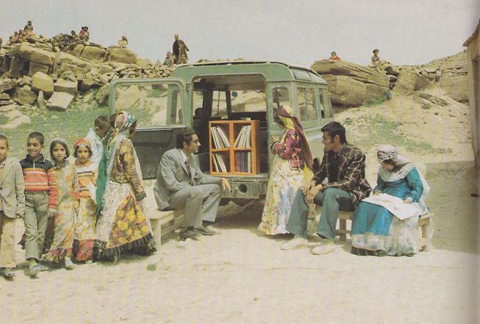 Иран, 1970 библиотека, библиотека на колесах, ретро фото