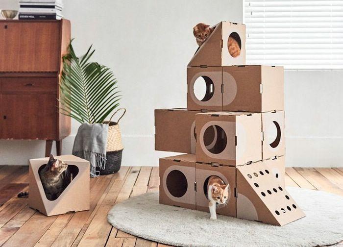 Бесподобные домики для кошек