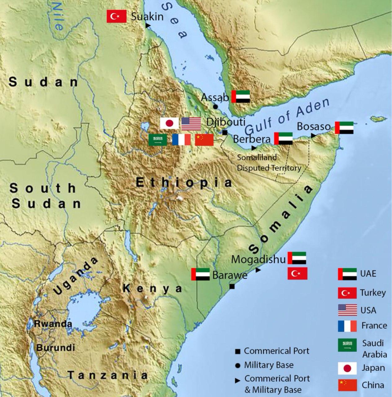 Сомалиленд: В сми циркулируют слухи о новой российской военной базе