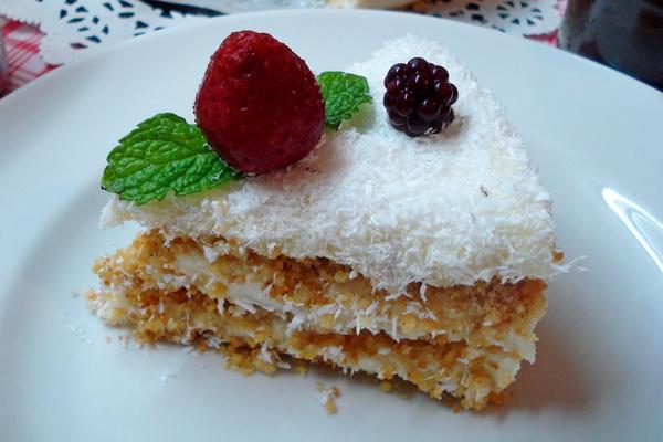 Торт «Пломбир» без выпечки в духовке (по вкусу, как мороженое, и просто тает во рту)