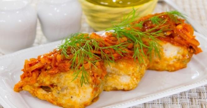 Минтай под маринадом из моркови и лука - вкусные и оригинальные рецепты простого блюда