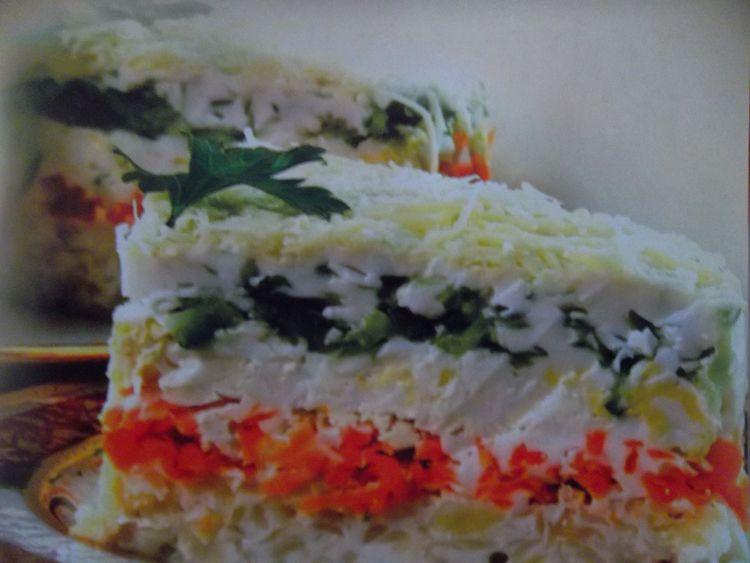 Попробуем овощной тортик