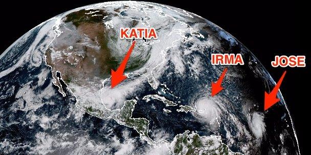 """Ураган """"Ирма"""" - это еще не всё: к берегам США могут направиться еще """"Катя"""" и """"Хосе"""", разгул стихии обернётся катастрофой"""