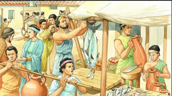 Бартерная торговля приводила к созданию рынков и ярмарок./Фото: images.easyfreeclipart.com