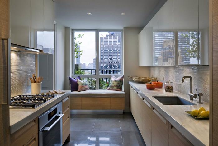 Место для отдыха в интерьере кухни.