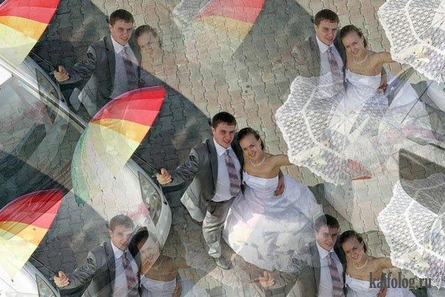 Дебильный свадебный фотошоп (50 приколов)