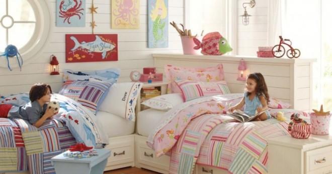Комната для мальчика и девочки - лучшие варианты обустройства и зонирования детской