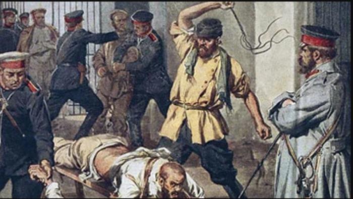 Смертельным считалось наказание в 200 и более ударов кнутом./Фото: cont.ws
