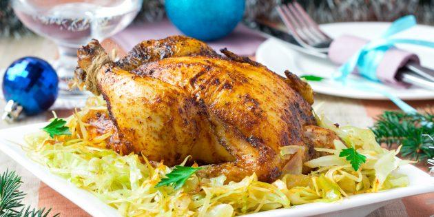 Как приготовить фаршированную курицу с ананасами