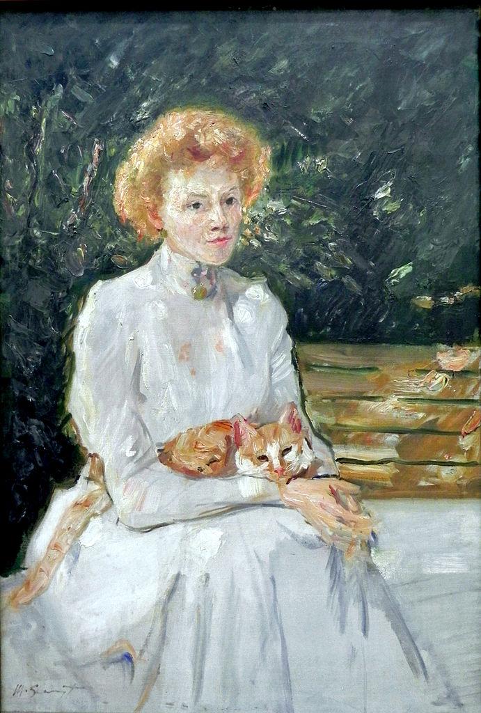 Dame mit Katze.1902. Max Slevogt.