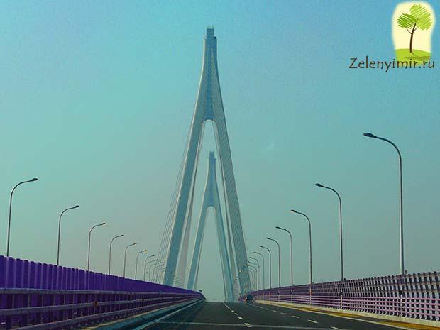 Мост через залив Ханчжоувань - один из самых длинных мостов мира - 4
