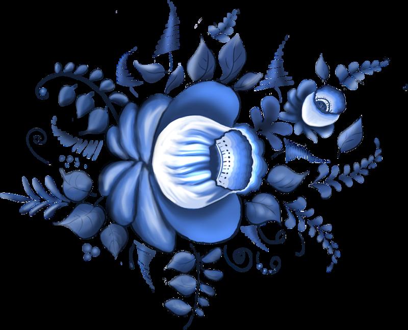 Голубая сказка — сказочная гжель