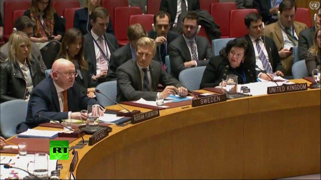 Россия отправила Великобританию в нокдаун на Совбезе ООН