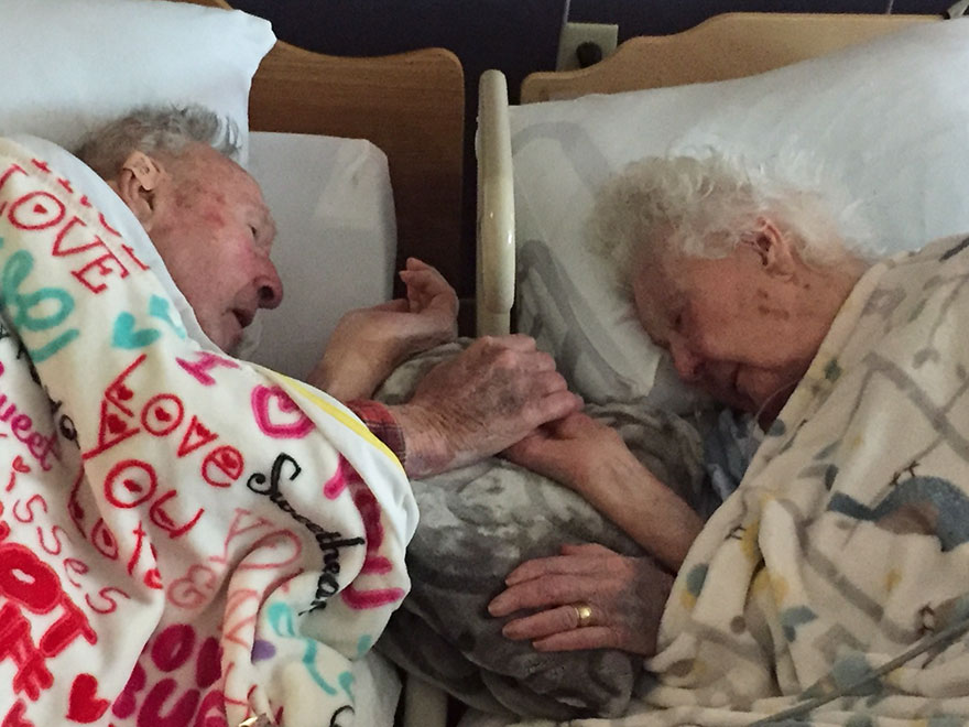100-Year-Old Man Can't Let Go Of His Dying Wife's Hand After 77 Years Of Marriage