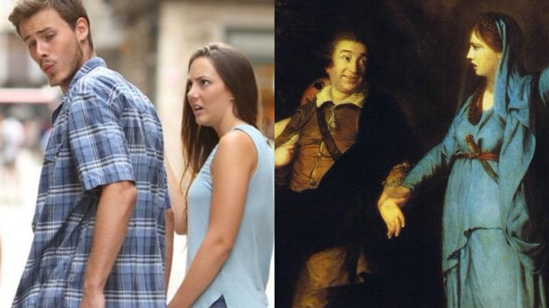 Первый мем в истории: тот самый хит о неверном мужчине оказался всего лишь пародией на картину XVIII века