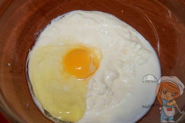 яйцо с йогуртом