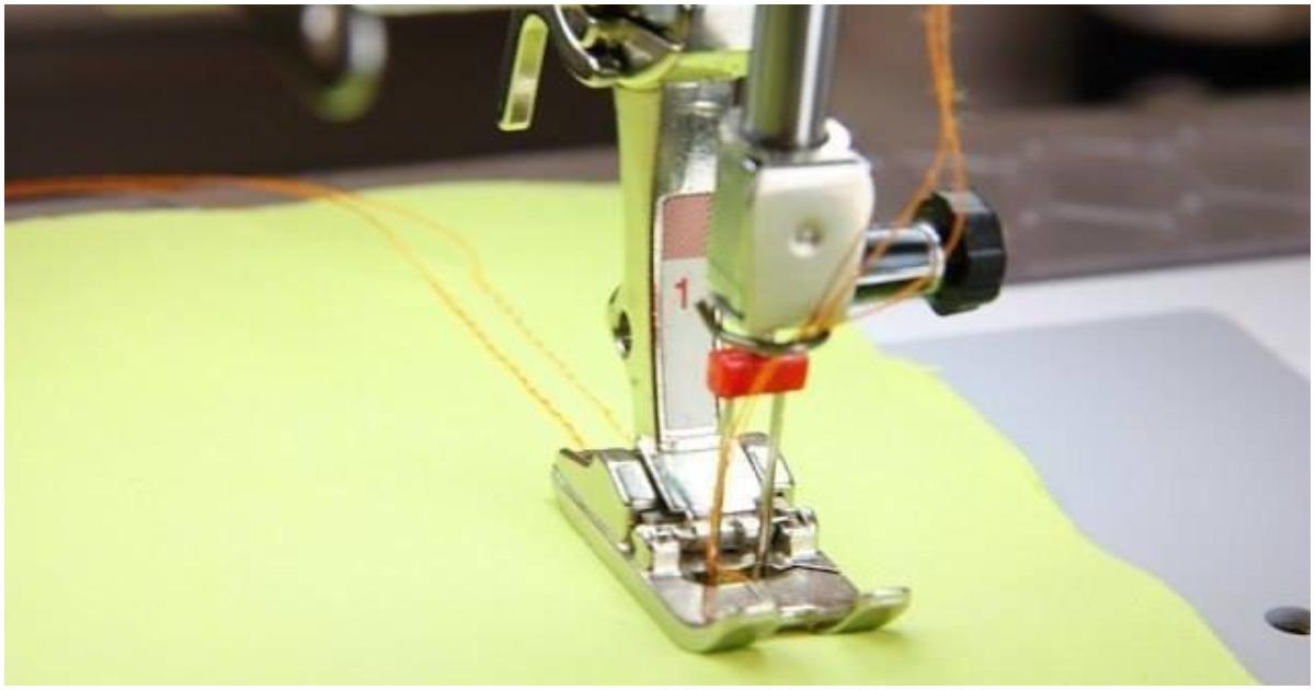 Двойная игла для швейной машинки: секрет ровных отделочных строчек