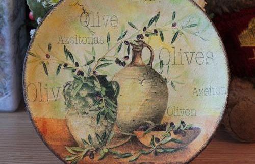 Декупаж: оригинальные идеи декора тарелки