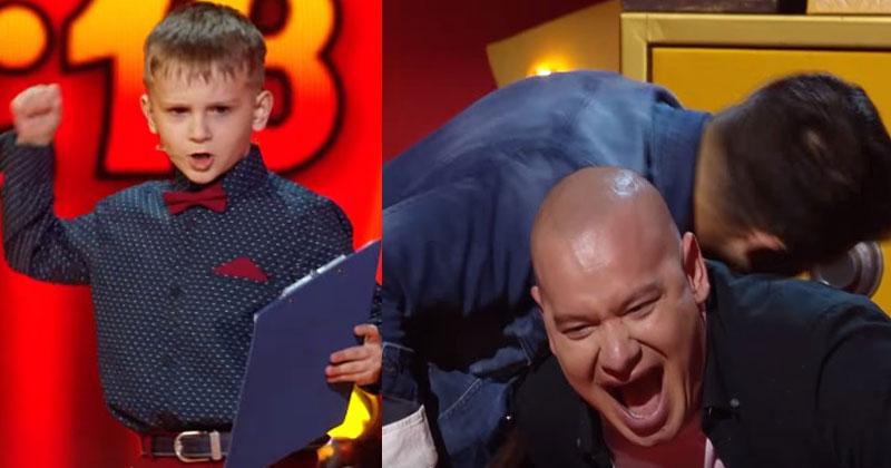 Малыш вышел на сцену и начал говорить. Спустя минуту судьи чуть не упали под стол от смеха!