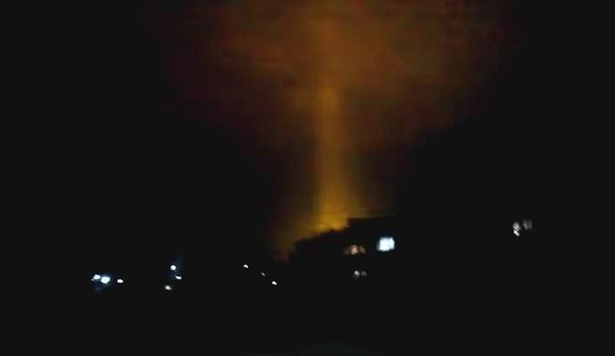 В Башкирии появился загадочный небесный луч