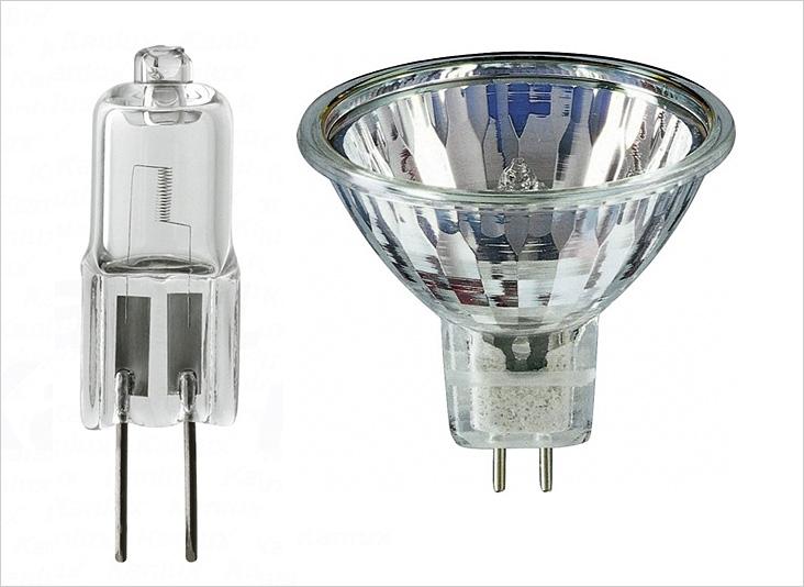 Галогенная лампа накаливания может быть как рефлекторной, так и пальчиковой