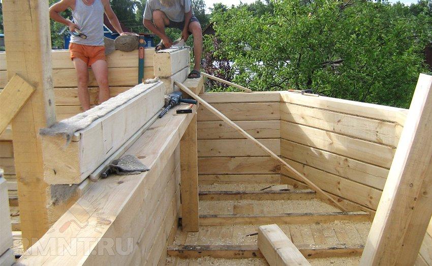 Профилированный брус построить дом своими руками