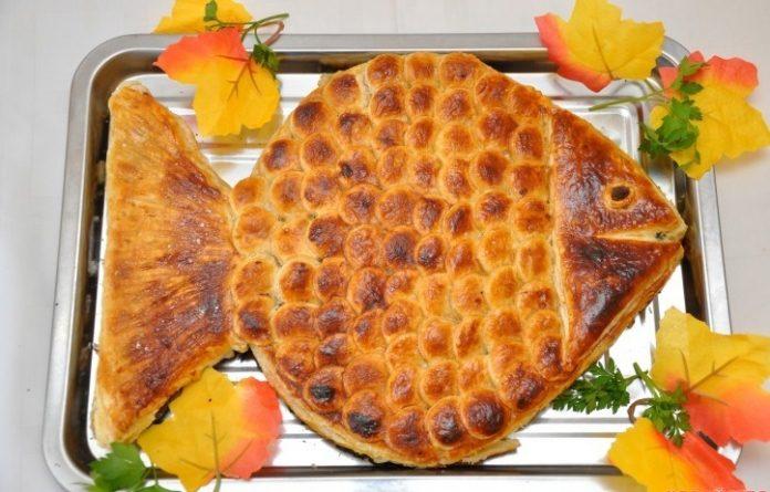 Ароматный и вкусный пирог «Золотая рыбка». Эффектный пирог все оценят на «ура»