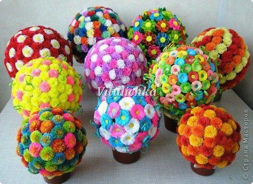 Цветочные шары из гофрирован…