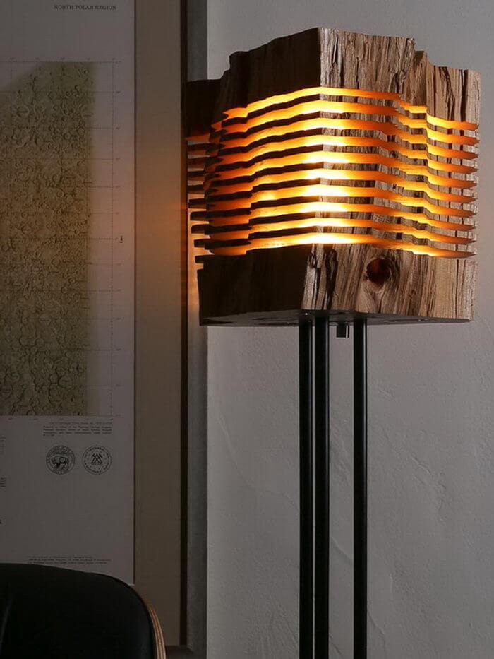 Необыкновенные светильники из дерева. ТОП 50 79