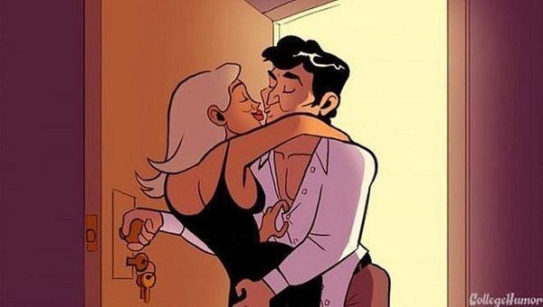 Интимная жизнь в кино и в реальной жизни: Веселые иллюстрации 18+