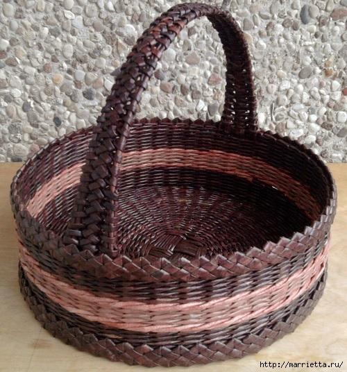 Плетение из газет: мастер класс и примеры применения фигурной косички