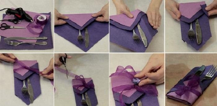 Как сделать салфетки на стол своими руками