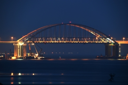 На Украине сообщили о проседании Крымского моста