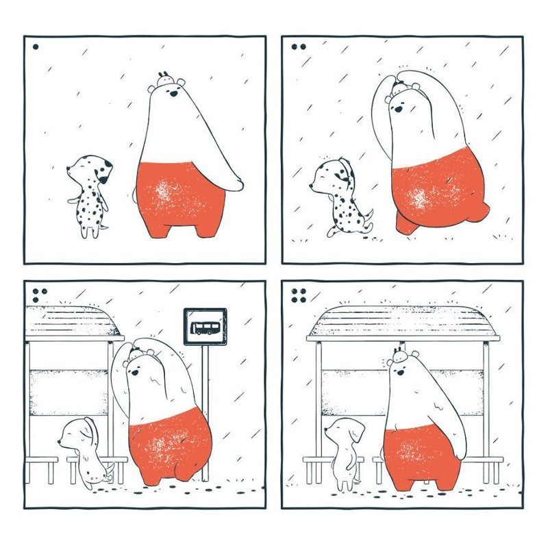 «Далматин в дождливый день» забавно, комиксы, подборка, рисунки, юмор