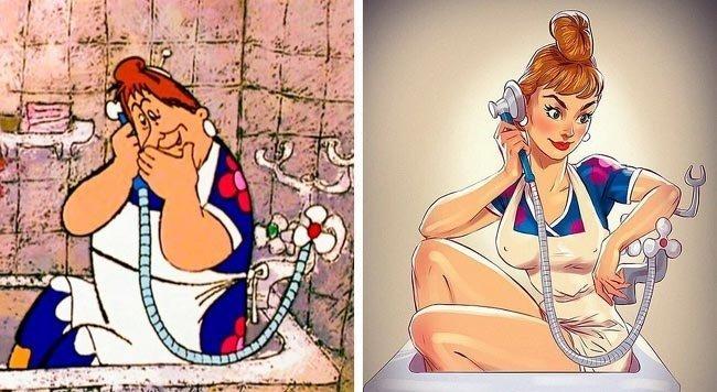 Российский художник превратил героинь мультфильмов в сексуальных красоток