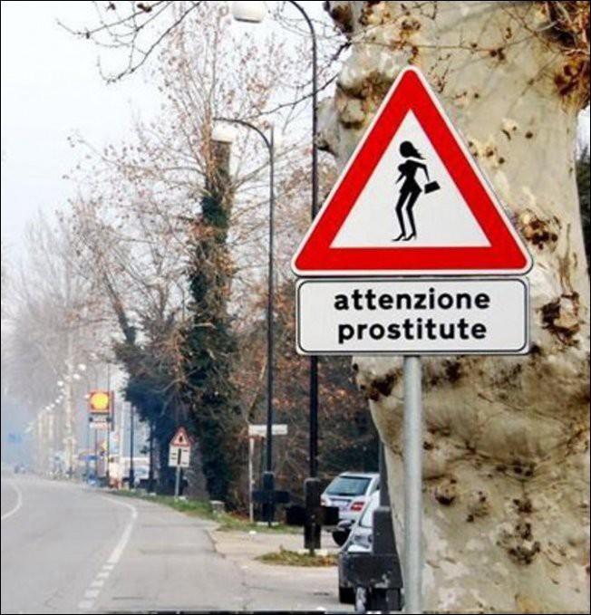 Забавные и странные дорожные знаки